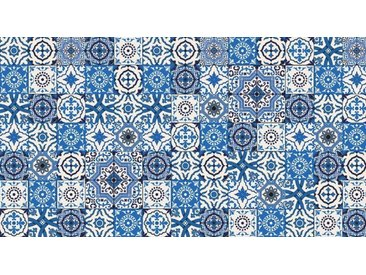 Artland Küchenrückwände »PGMart: Orientalische Fliesen«, blau, 110x60 cm, Blau