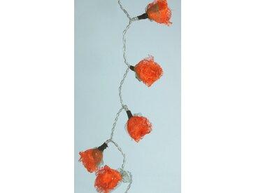 Guru-Shop LED-Lichterkette »Bast Rosen LED Lichterkette 20 Stk. - orange«, orange, orange