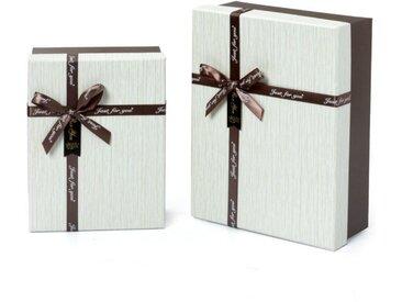 """Idena Geschenkbox »Geschenkbox - 2-er Set - 2 Größen mit Schleifen """"just for you""""«"""