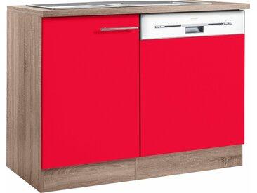 OPTIFIT Spülenschrank »Korfu«, mit Tür/Sockel für Geschirrspüler, rot, rot