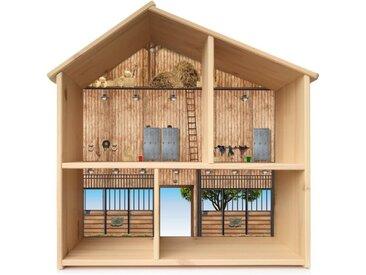 STIKKIPIX Möbelfolie »PHF01«, Pferdestall Aufkleber, passend für das Puppenhaus FLISAT von IKEA (Puppenhaus nicht inklusive)