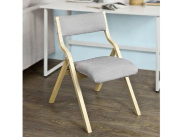 SoBuy Klappstuhl »FST40« Küchenstuhl mit gepolsterter Sitzfläche und Lehne, grau, grau
