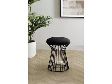 COUCH♥ Sitzhocker »Strebsam«, gepolsterte Sitzfläche, schwarz, schwarz