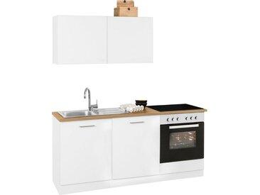 HELD MÖBEL Küchenzeile »Kehl«, ohne E-Geräte, Breite 180 cm, weiß, weiß