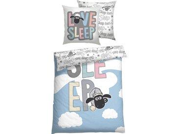 Shaun das Schaf Kinderbettwäsche »Love Sleep«, mit Wendeoptik