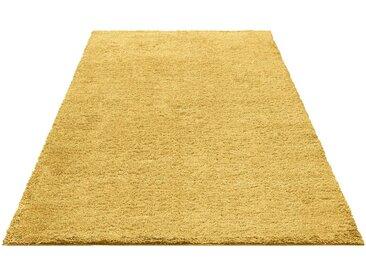 Bruno Banani Hochflor-Teppich »Shaggy Soft«, rechteckig, Höhe 30 mm, goldfarben, goldfarben