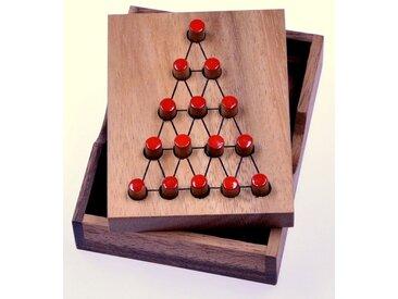Logoplay Holzspiele Spiel, Der letzte Kämpfer - Dreieck-Solitär - Steckspiel - Denkspiel - Knobelspiel - Geduldspiel - Logikspiel aus Holz