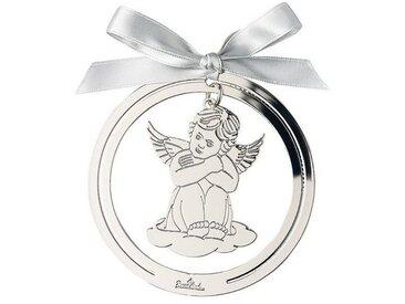Rosenthal Christbaumschmuck »Silver Collection Angels Silver Engel Anhänger rund« (1-tlg), Engel sitzend