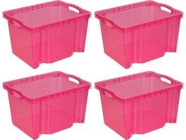 keeeper Aufbewahrungsbox »franz« (Set, 4 Stück), rosa, pink