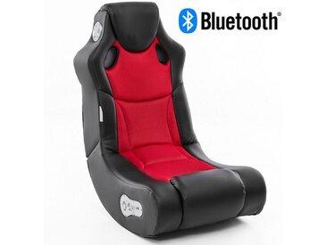 Wohnling Gaming Chair »WL8.008BT« Soundchair BOOSTER in Schwarz Rot mit Bluetooth, Musiksessel mit eingebauten Lautsprechern, Multimediasessel für Gamer