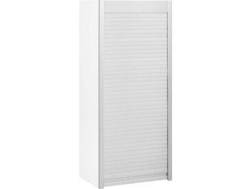 HELD MÖBEL Aufsatzschrank »Lou« Jalousieschrank, Breite 50 cm, weiß, weiß/edelstahlfarben