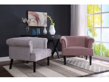 ATLANTIC home collection Sessel, Loungesessel mit Wellenunterfederung, grau, grau