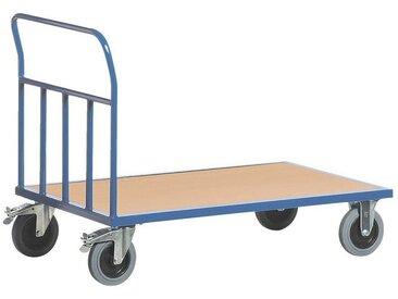 ROLLCART Rohr-Stirnwandwagen 120x80 cm Holz-Ladefläche, bunt, bunt