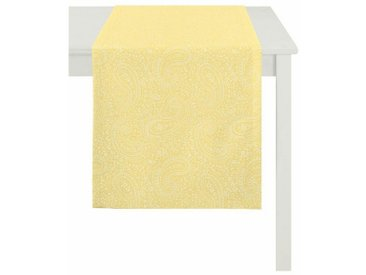 APELT Tischläufer »7907 Uni Paisley« (1-tlg), gelb, gelb