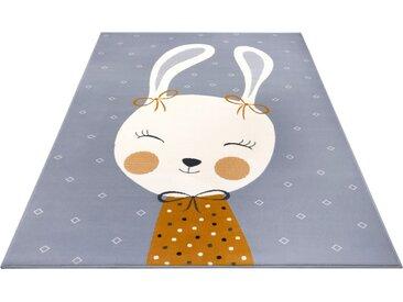 HANSE Home Kinderteppich »Bunny Polly«, rechteckig, Höhe 9 mm, grau, grau