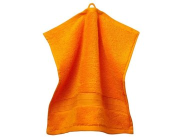 grace grand spa Waschlappen »3er-Pack« (3-tlg), mit breiter Webbordüre, orange, orange