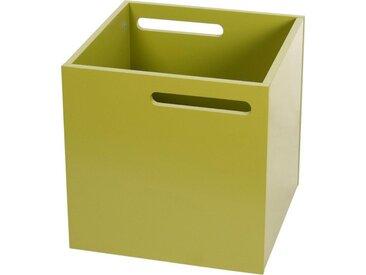 TemaHome Aufbewahrungsbox »Berlin«, mit Muldegriffen für einen praktischen Transport, in verschiedenen modernen Farbvarianten erhältlich, grün, grün