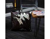 Obsession Dekokissen »My Bling Cushion«, Paillettenkissen, Zierkissen, eckig, 40x40 cm, Wende-Pailletten, inkl. Kissenfüllung, Wohnzimmer, schwarz