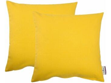 TOM TAILOR Kissenhüllen »Dove«, gelb, zitrone