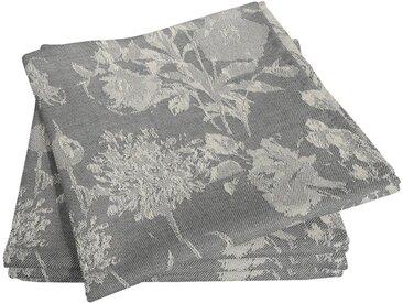 Adam Stoffserviette »Flower Cuveé Light«, nachhaltig, GOTS zertifiziert, grau, dunkelgrau