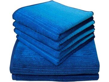 Dyckhoff Handtuch Set »Colori« (Set, 6-tlg), mit Farbverlauf, blau, 6 tlg., blau