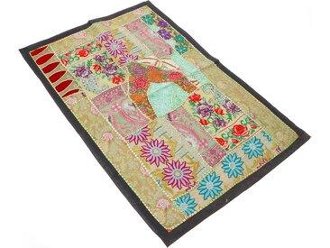 Guru-Shop Wandteppich »Indischer Wandteppich Patchwork..«, Höhe 65 mm, Muster 6