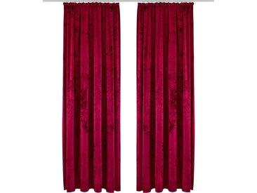 my home Vorhang »Velvet«, Kräuselband (1 Stück), rot, weinrot