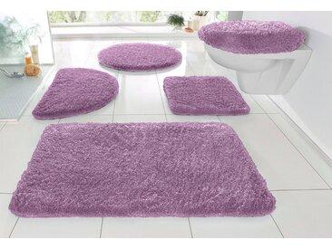 my home Badematte »Sanremo« , Höhe 30 mm, Besonders weich durch Microfaser, lila, lila
