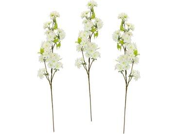 my home Kunstblume »Palina« Kirschblütenzweig, Höhe 84 cm, 3er Set, weiß, weiß