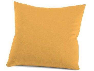 Schlafgut Kissenbezug »Nelke«, (1 Stück), Interlock-Jersey, soft und weich, gelb, Jersey-Baumwolle, mandarin