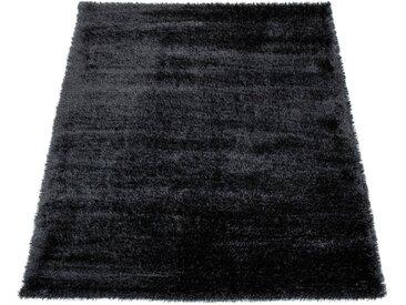 Paco Home Hochflor-Teppich »Touch 100«, rechteckig, Höhe 45 mm, weicher Uni Shaggy mit Glanz Garn, grau, anthrazit