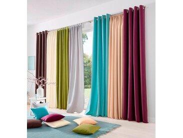my home Gardine »Raja«, Kräuselband (2 Stück), Vorhang, Fertiggardine, blickdicht, silberfarben, silbergrau