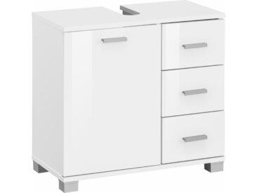 Places of Style Waschbeckenunterschrank »Rowan« mit 3 Schubkästen, weiß, weiß Hochglanz