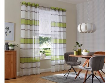 my home Gardine »Jay«, Ösen (2 Stück), grün, grün