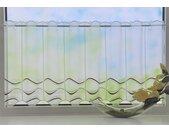 Stickereien Plauen Scheibengardine »Welle«, Stangendurchzug (1 Stück), weiß