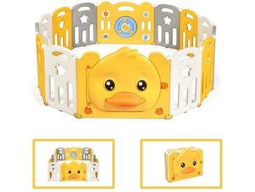 COSTWAY Laufgitter »Baby Laufstall Absperrgitter Krabbelgitter Spielzaun«, mit Tür & Sicherheitsschloss, mit Spielzeugboard & Sound