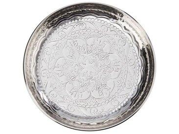 BUTLERS Tablett » ORIENTAL LOUNGE Deko Teller Ø 31 cm«, Aluminium