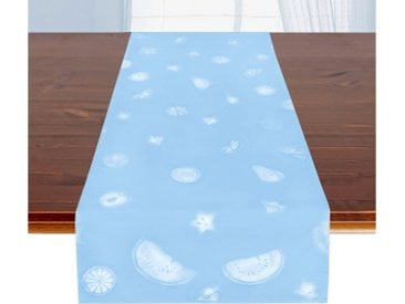 Delindo Lifestyle Tischläufer »FRUITS«, Druckdesign, Fleckschutz, 185 g/m², blau, blau