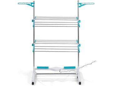 EASYmaxx Elektrischer Wäscheständer, 24W weiß/türkis