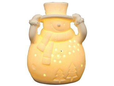SIGRO Porzellan Windlicht »Schneemann«, weiß, Weiß