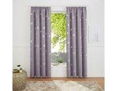 my home Gardine »Blackout Curtain With Foil Print Star«, Kräuselband (1 Stück), grau, grau