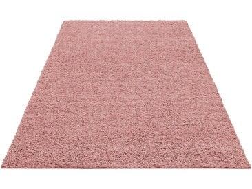 Home affaire Hochflor-Teppich »Shaggy 30«, rechteckig, Höhe 30 mm, gewebt, rosa, rosa