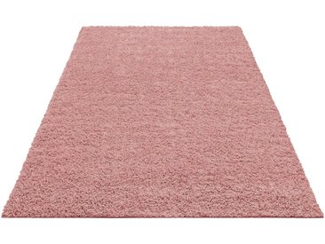 Home affaire Hochflor-Teppich »Shaggy 30«, rechteckig, Höhe 30 mm, gewebt, Wohnzimmer, rosa, rosa