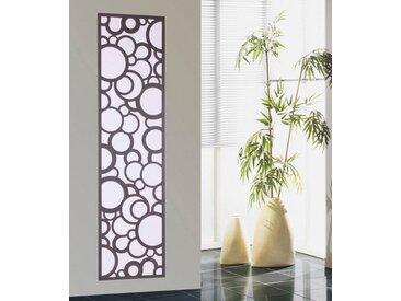 SZ METALL Designheizkörper »Kreta«, Badheizkörper, mit Kreisen aus pulverbeschichtetem Stahlblech, silberfarben, schwarz-weiß