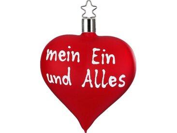 INGE-GLAS® Christbaumschmuck »mein Ein und Alles« (1-tlg), Herzform