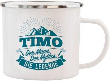 HTI-Living Becher »Echter Kerl Emaille Becher Timo«
