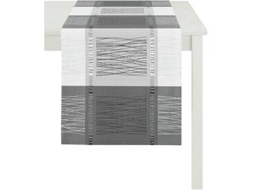 APELT Tischläufer »COMO, LOFT STYLE, Jacquard« (1-tlg), schwarz, schwarz-weiß