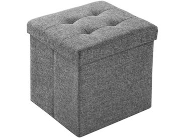 tectake Sitzhocker »Faltbarer Sitzwürfel aus Polyester mit Stauraum« (1 St), grau, hellgrau, hellgrau