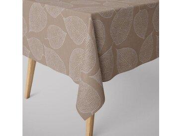 SCHÖNER LEBEN. Tischdecke » Tischdecke Jacquard Blätter beige verschiedene Größen«, handmade