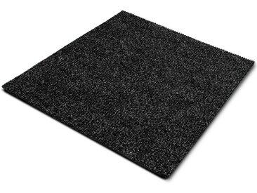 casa pura Teppichfliese »Can Can«, Quadratisch, Höhe 6 mm, Gerippt, Selbstliegend, schwarz, Anthrazit